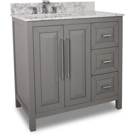 Grey Bathroom Vanity 35 Quot Grey Modern Bathroom Vanity Van100 36 T With White Marble Top