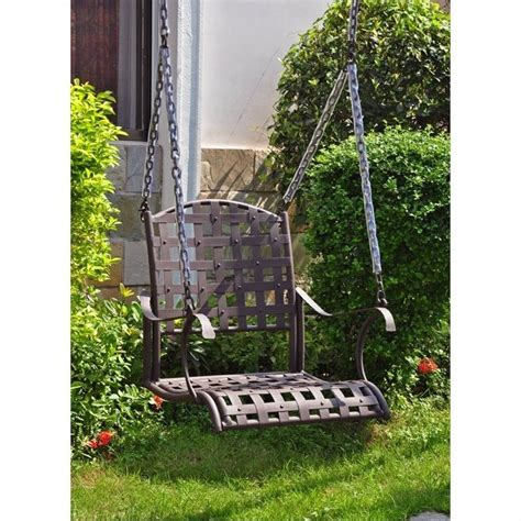 iron porch swing iron nailhead hanging porch swing 3569 sgl