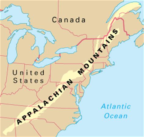 appalachian mountains on us map the appalachians howstuffworks