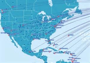British Airways Route Map by British Airways Route Map North America