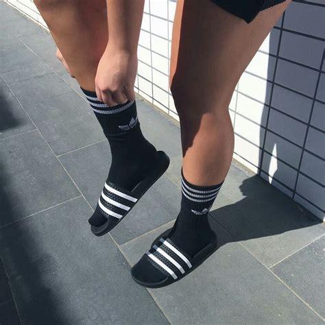 adidas sandals socks 172 best adilette images on adidas slides