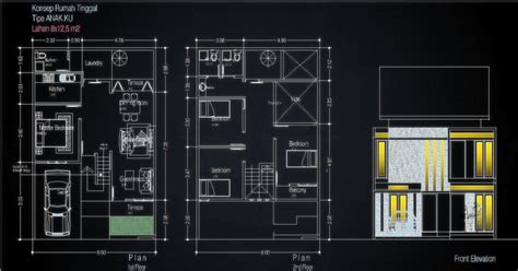 desain rumah dot rumah minimalis ukuran 9x15