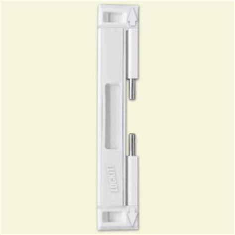 lockit bolt sliding glass door white lock
