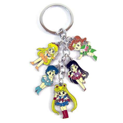 Anime Keychains by Retail 1pcs Anime Sailor Moon Keychains Metal
