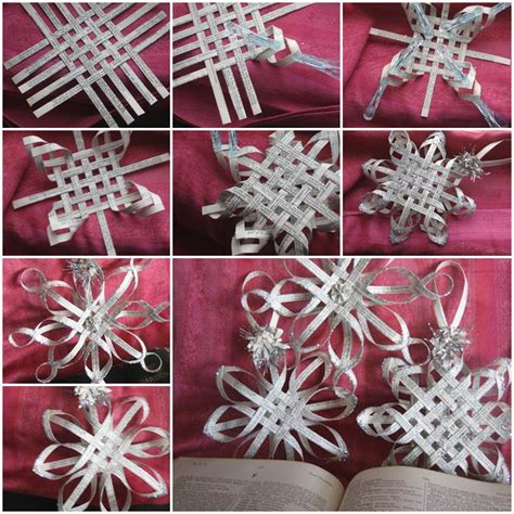 paper christmas ornaments patterns wonderful diy woven paper snowflake ornaments