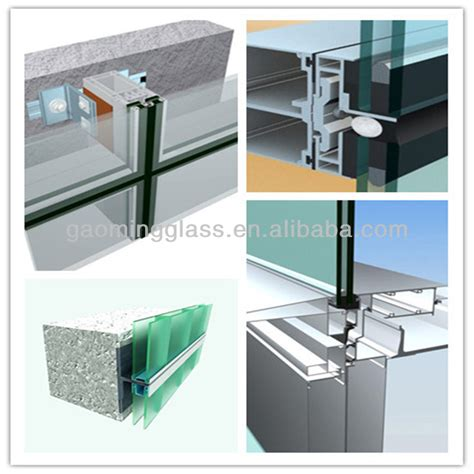 glazed curtain wall price of double glazed curtain wall fabric curtain wall