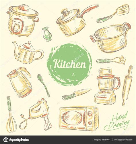 imagenes vectores cocina mano dibujar colecci 243 n de utensilios de cocina