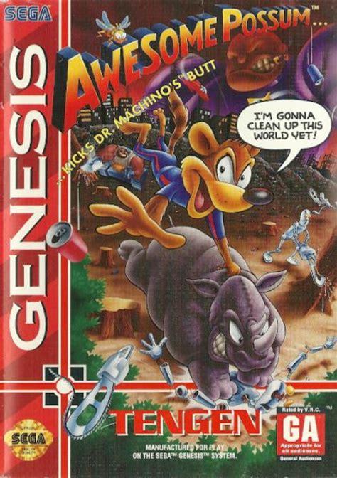 awesome possum kicks dr machino s genesis mega