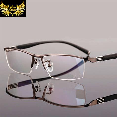 new mens alloy eyeglass frames 2016 new arrival men style titanium alloy half rim eye