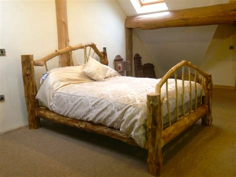 Handcrafted Bed - handcrafted log bed