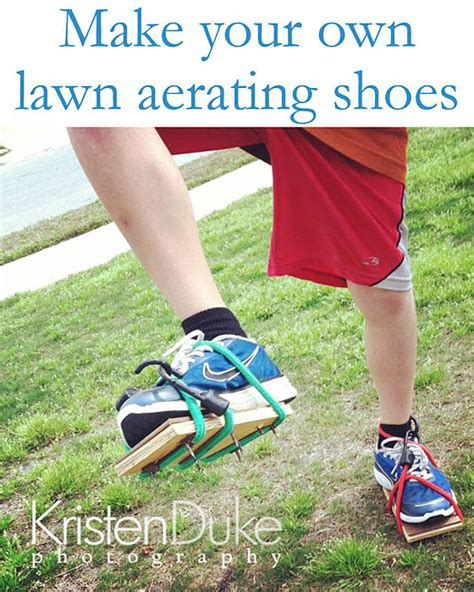 diy homemade lawn aerating shoes capturing joy with kristen duke