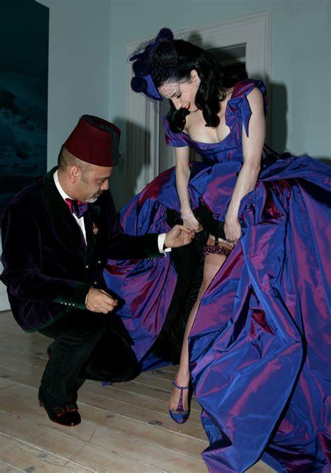 Or Fabulous Dita Teeses Purple Vivienne Westwood Wedding Dress by Gottfried Helnwein Press Interviews Dita Teese