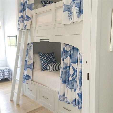 loft bed curtain pattern blue and white with the enchanted home design chic