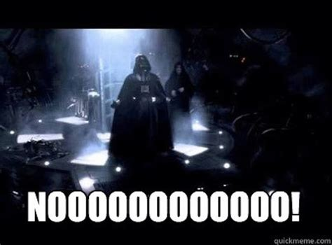 Star Wars No Meme - star wars darth vader funny noooo quotes star wars