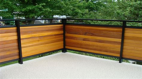 wood deck ideas horizontal privacy deck railing ideas