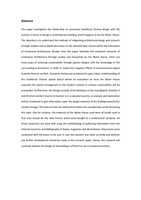 sle of table of contents for research paper abstract table contents