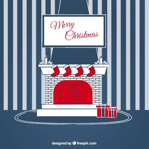 Kamin Hintergrund Wand frohe weihnachten gestreiften wand hintergrund mit kamin