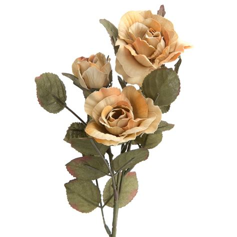 soft orange and muted green artificial rose spray floral soft orange and muted green artificial rose spray floral