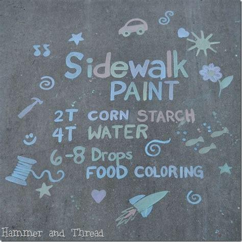 diy sidewalk chalk paint recipe dezuanni gideon for the