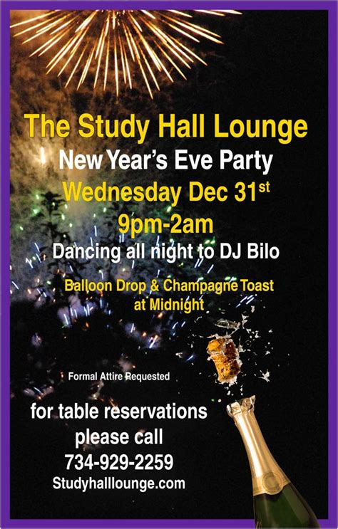 new years events arbor new year s 2015 study lounge arbor