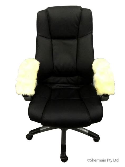 sheepskin armrest cover office arm chair