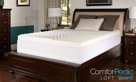 comforpedic loft by beautyrest 2 quot memory foam mattress
