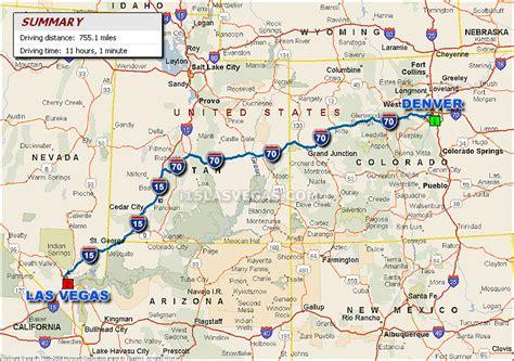 map las vegas denver denver to las vegas driving distance map