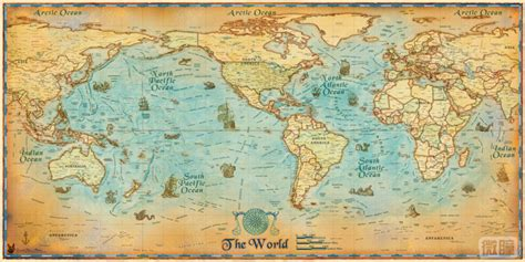 Map Of The World Wall Stickers antique furniture styles photos picture more detailed