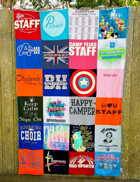 Repat Quilt by Project Repat Custom T Shirt Blankets Made In The Usa