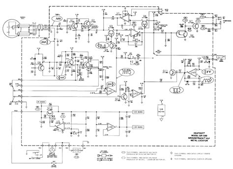 metal detector circuit diagram heathkit groundtrack gr 1290 metal detector schematic diagram