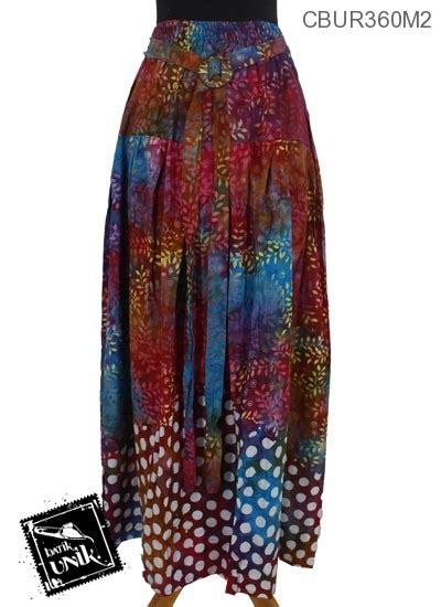 Batik Pramita Set Model Klok rok batik klok cap motif daun tumpal pulkadot rok murah