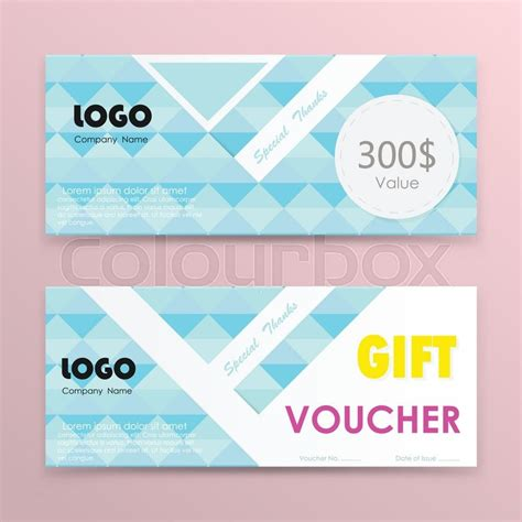 design background voucher gift voucher background or certificate coupon template