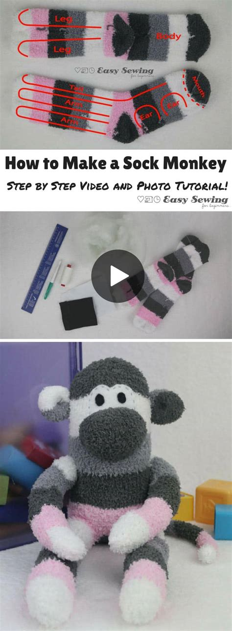 build a sock monkey 2015 how to make a sock monkey with a sock monkey pattern pdf