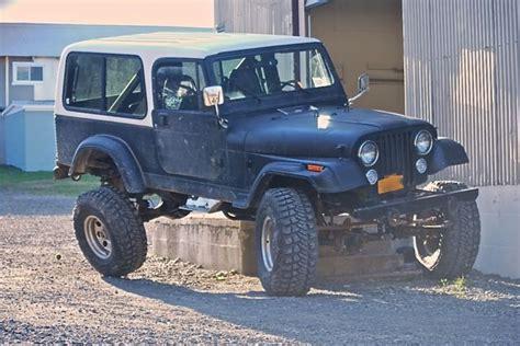 jeep scrambler hardtop lifted 83 jeep cj 8 scrambler w full hardtop no reserve