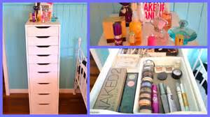Black Makeup Vanity With Drawers Ikea Alex Drawer Unit Makeup Collection Youtube