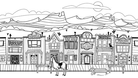 Town Coloring Page free coloring pages of town