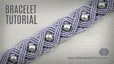 Macrame School - eternal wave bracelet tutorial in vintage style macrame