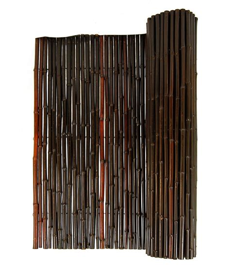 mahogany rolled bamboo fence         bamboo