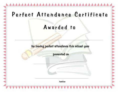 attendance certificate template word template attendance certificate template word