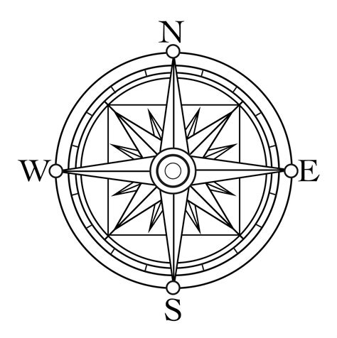 printable compass template compass coloring pages