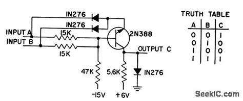 npn transistor and gate npn and gate power supply circuit circuit diagram seekic