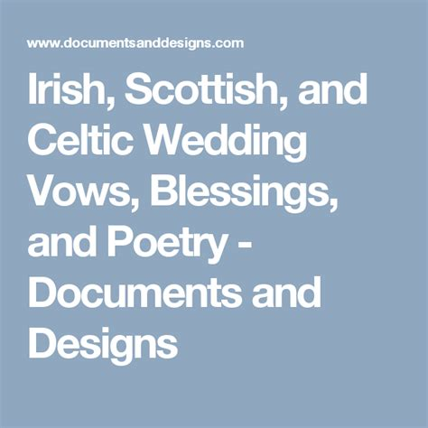 Wedding Blessing Vows by Scottish And Celtic Wedding Vows Blessings And
