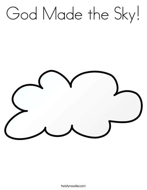 God Made The Sky Coloring Page god made the sky coloring page twisty noodle