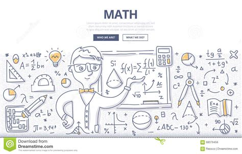 how to doodle in math math doodle concept stock vector illustration of