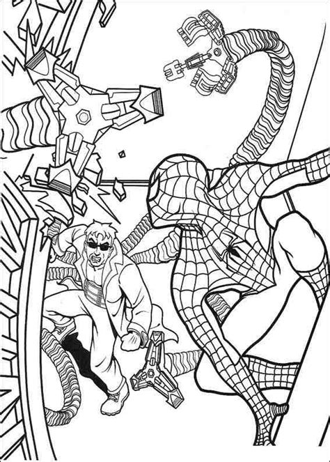 spider man comic coloring page free spider man villains coloring pages