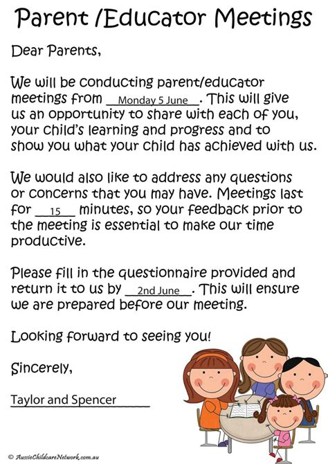 parent letter from teacher template write happy ending