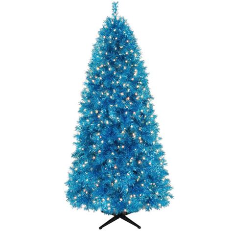 holiday time 7 richmond blue tinsel artificial christmas