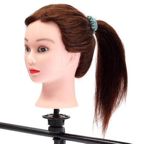 mannequin head to practice braiding in st louis 20 brown 90 human hair hairdressing training head