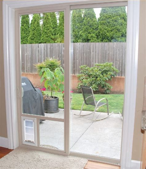 Pet Door In Glass Door If You Need A Sliding Glass Door What Should You Do If You A Of Course You Want