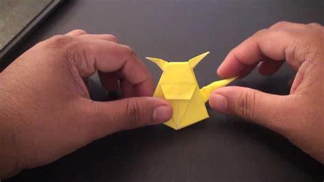 Origami Raichu - origami daily 016 pikachu bookmark tcgames